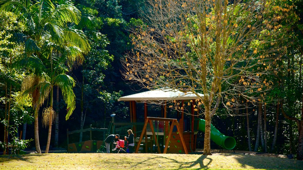 Maleny featuring a garden and a playground as well as a family