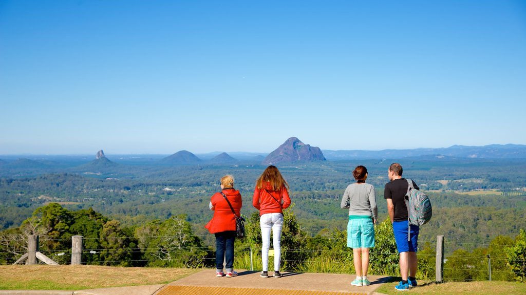 Maleny which includes landscape views and views as well as a small group of people