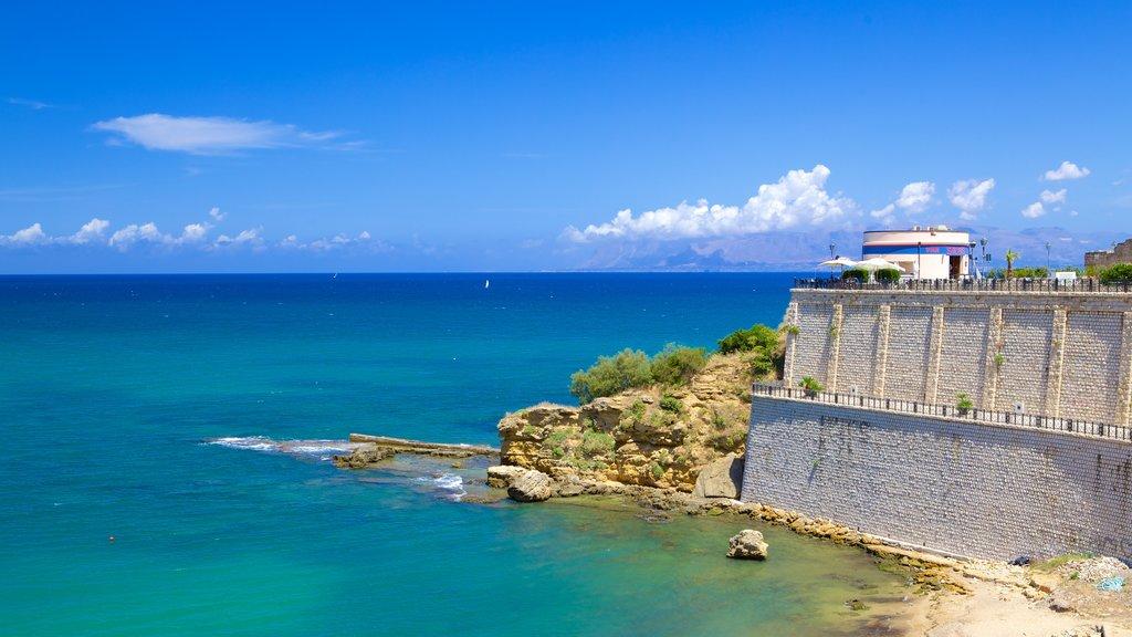 Castellammare del Golfo showing general coastal views and rocky coastline