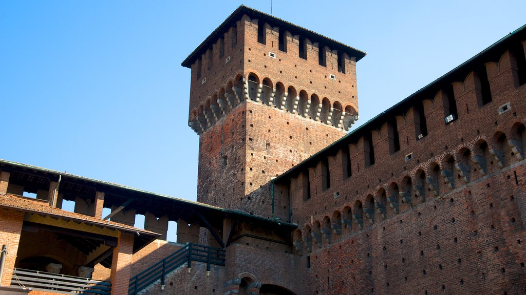 Castello Sforzesco showing chateau or palace and heritage architecture