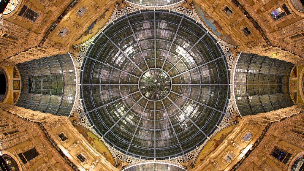 Galleria Vittorio Emanuele II showing interior views