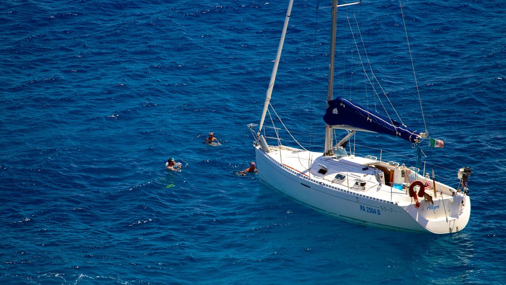 Zingaro Beach featuring swimming, snorkeling and boating