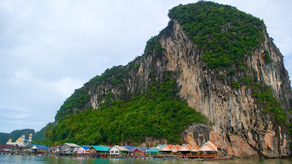 Phang Nga featuring a coastal town and mountains