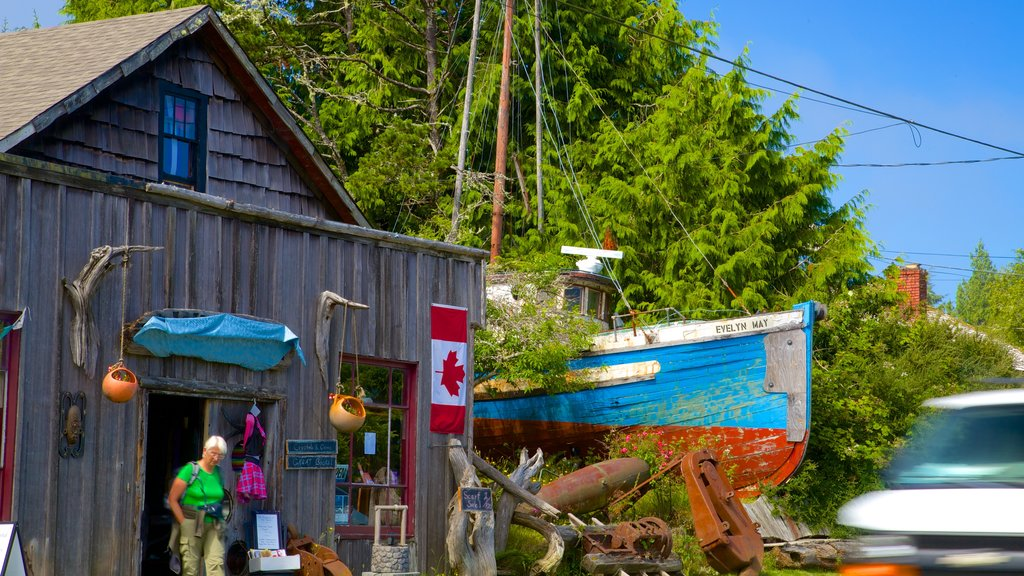 Ucluelet featuring street scenes and a small town or village as well as an individual femail