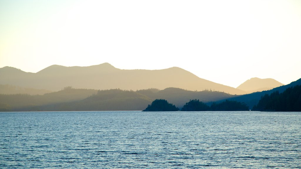 Clayquot Arm Provincial Park featuring general coastal views, mist or fog and mountains