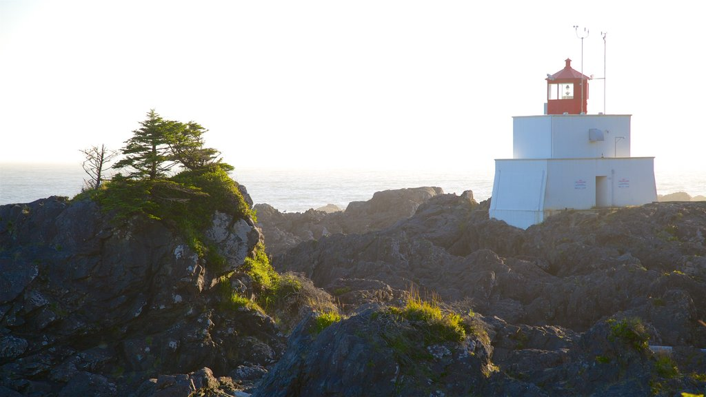 Wild Pacific Trail which includes general coastal views, rocky coastline and a lighthouse