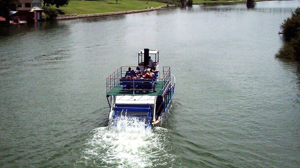 Carlsbad showing a river or creek and a ferry