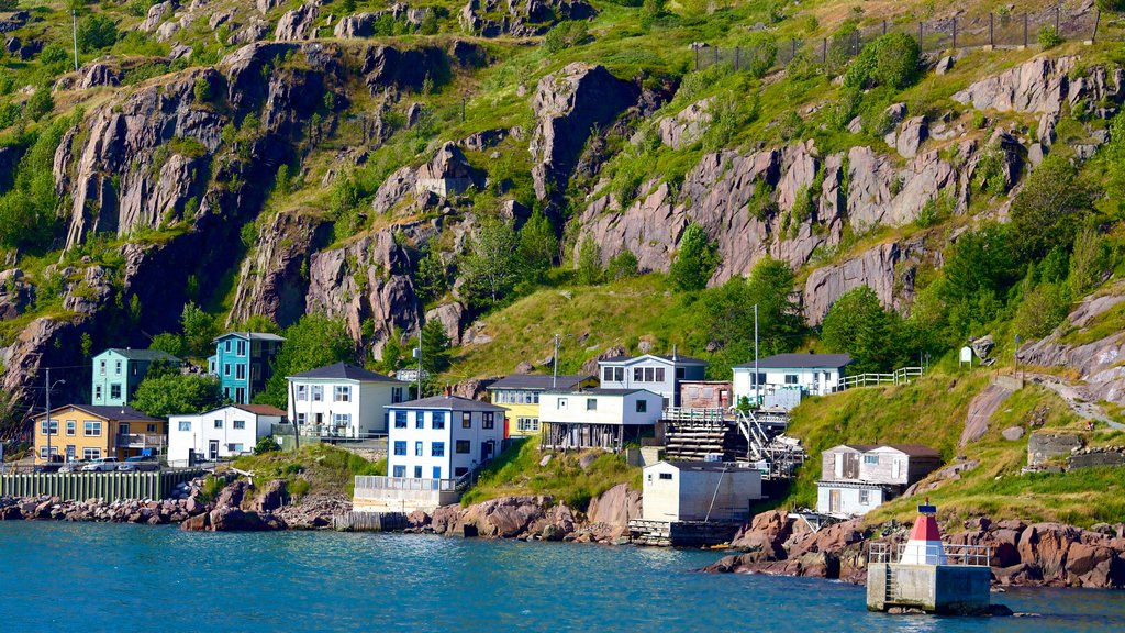 St. John\'s featuring rocky coastline, general coastal views and a coastal town