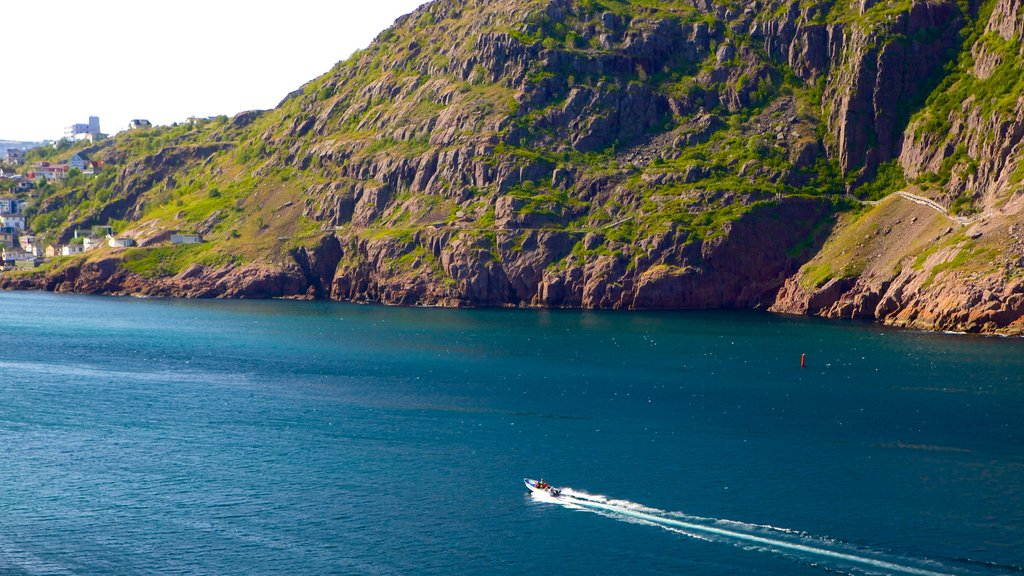 St. John\'s featuring boating, rugged coastline and general coastal views
