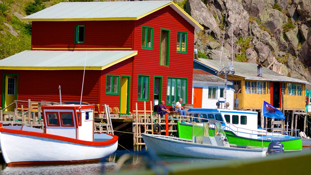Quidi Vidi which includes boating and a marina