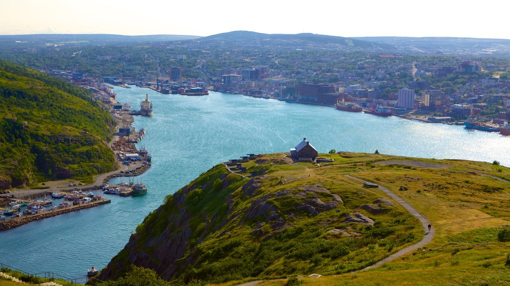 Signal Hill featuring landscape views, general coastal views and a city