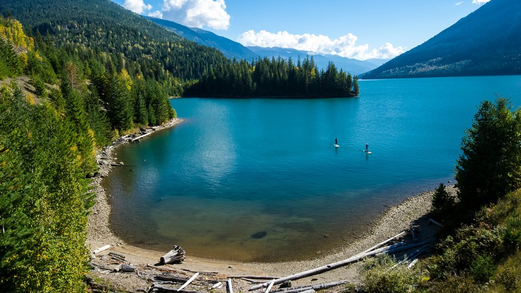 Revelstoke which includes landscape views, a lake or waterhole and watersports