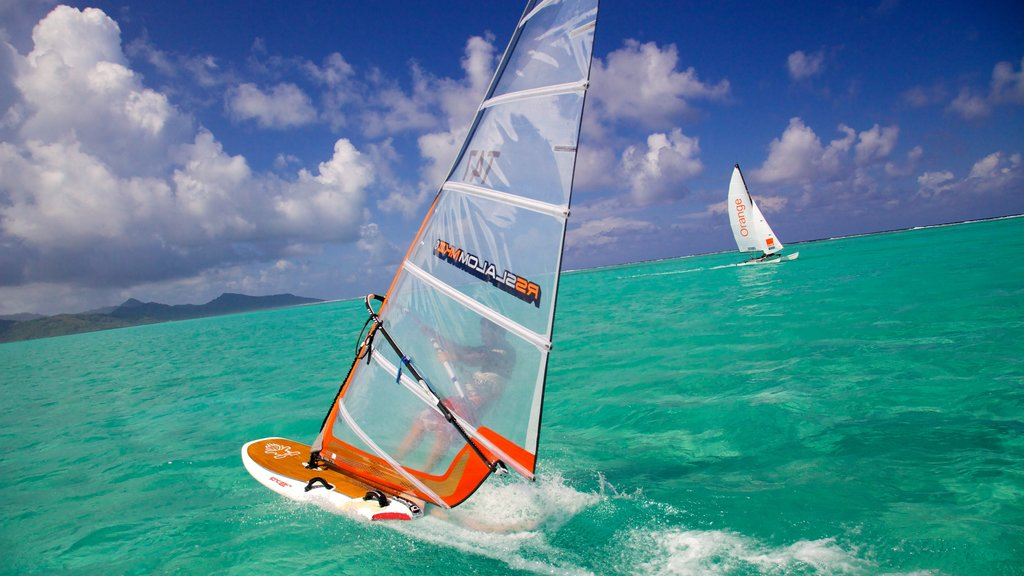 Raiatea showing windsurfing