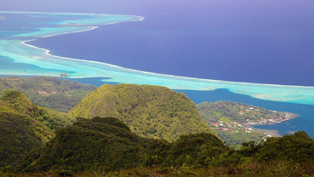 Raiatea which includes general coastal views and landscape views