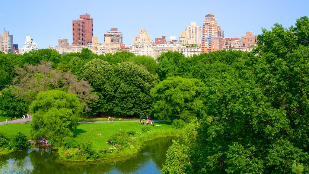Belvedere Castle featuring a city and a park