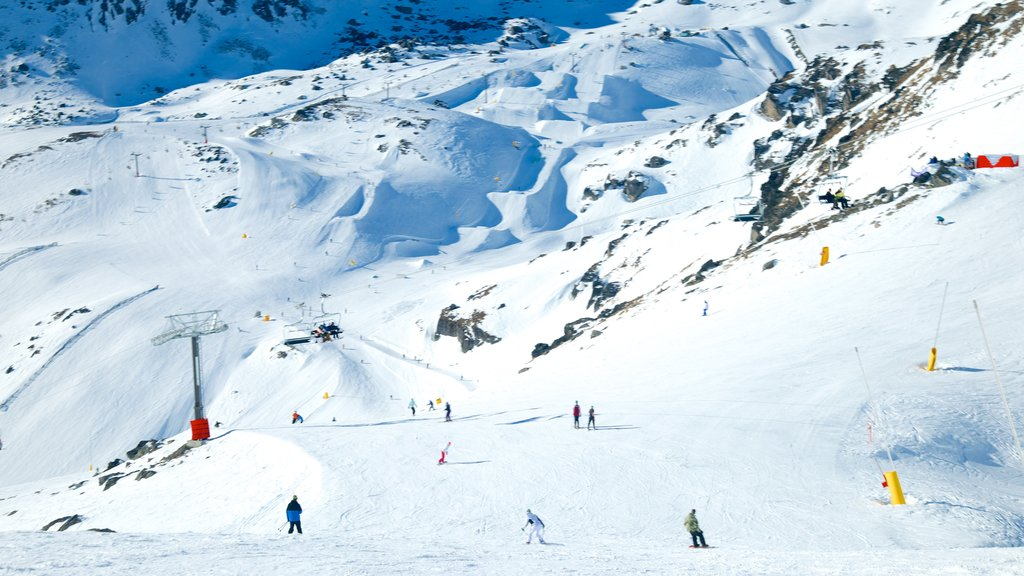 The Remarkables Ski Area which includes snow
