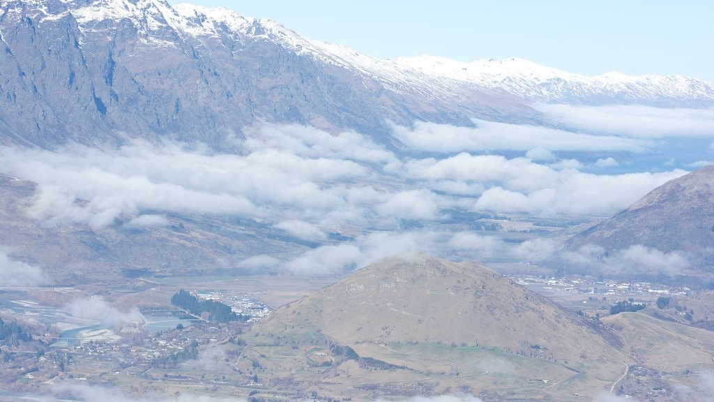 Coronet Peak Ski Area which includes landscape views, mountains and a gorge or canyon