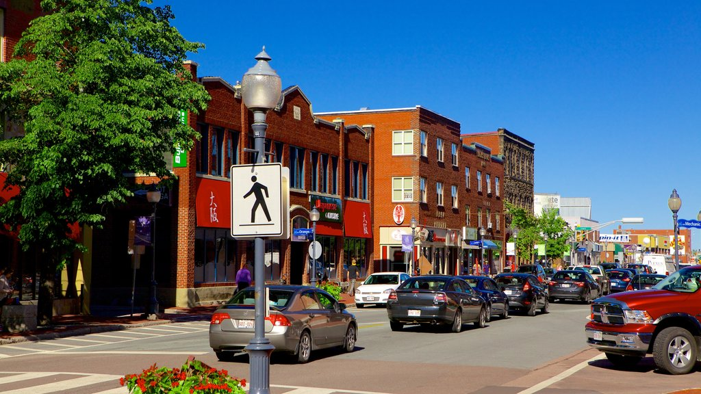 Moncton featuring a city and signage