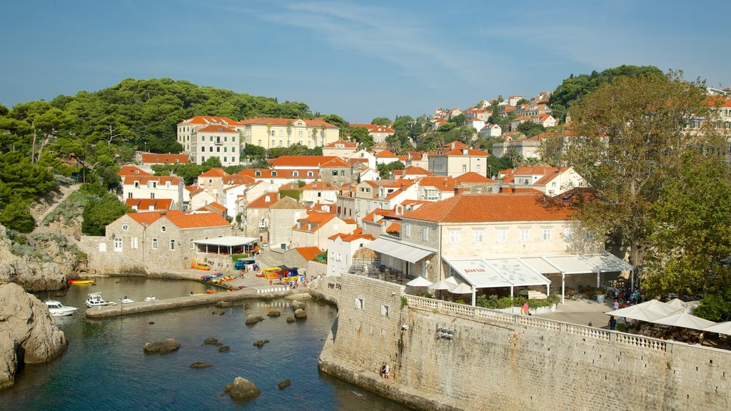 Dubrovnik - Southern Dalmatia showing a coastal town and a bay or harbor