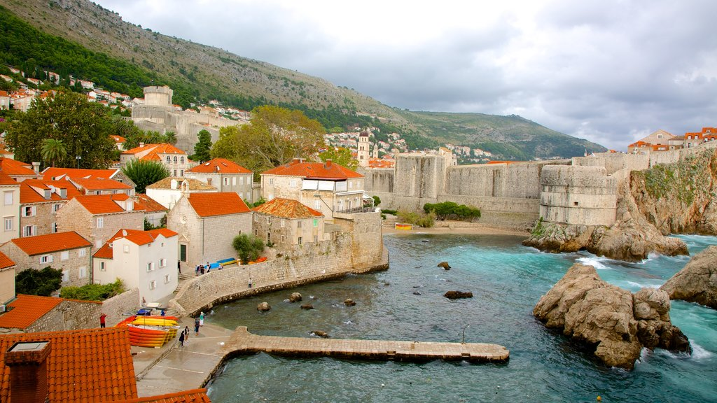 Dubrovnik - Southern Dalmatia which includes a bay or harbor and a coastal town