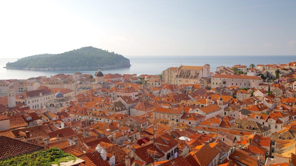 Lokrum Island featuring island views and a coastal town