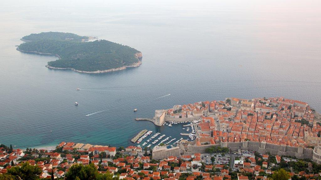 Lokrum Island showing island views and a coastal town
