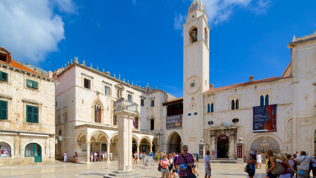 Sponza Palace which includes heritage architecture and a square or plaza as well as a small group of people