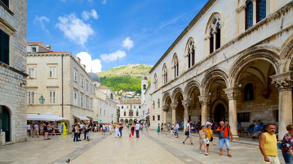 Rector\'s Palace featuring heritage architecture and a square or plaza