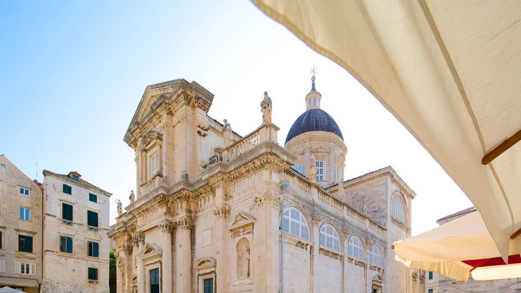 Dubrovnik Cathedral which includes heritage architecture and a church or cathedral