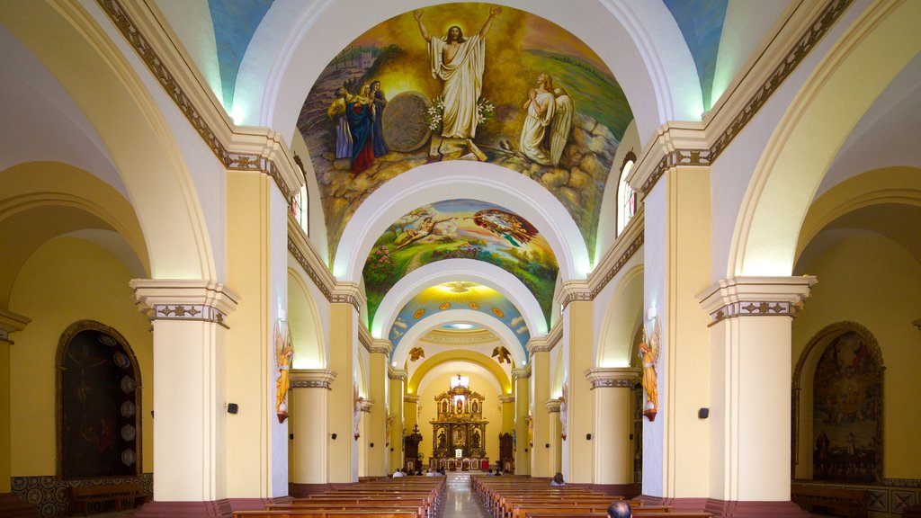 Trujillo Cathedral featuring interior views and a church or cathedral