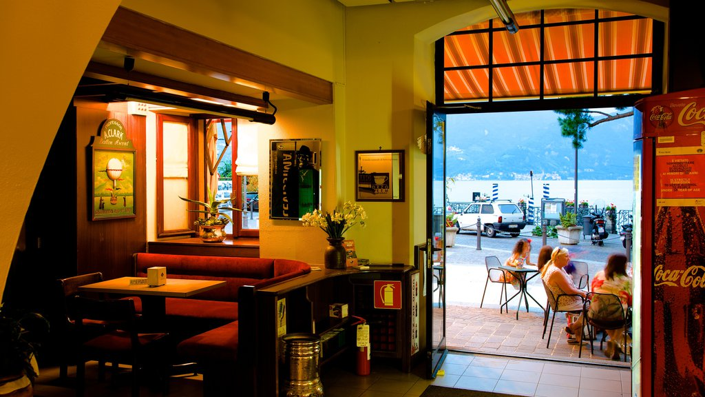 Menaggio which includes interior views, dining out and cafe scenes