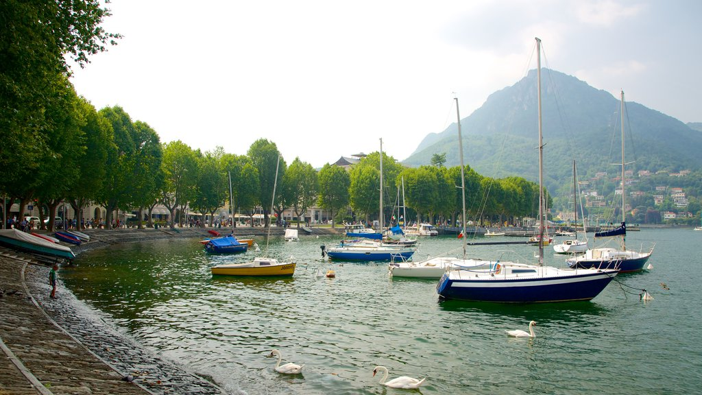 Lecco featuring a bay or harbor and boating