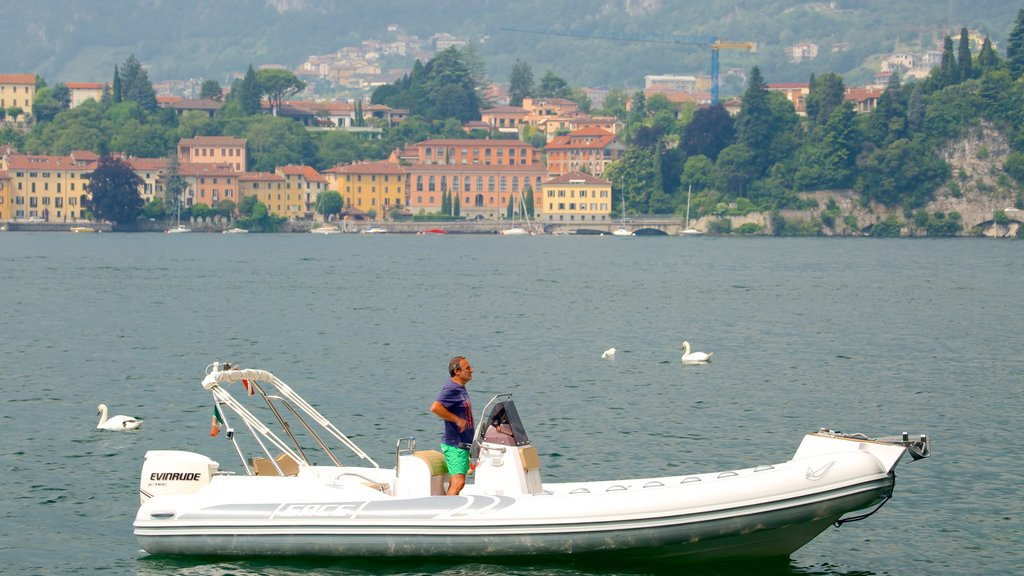 Lecco which includes a coastal town, boating and a bay or harbor