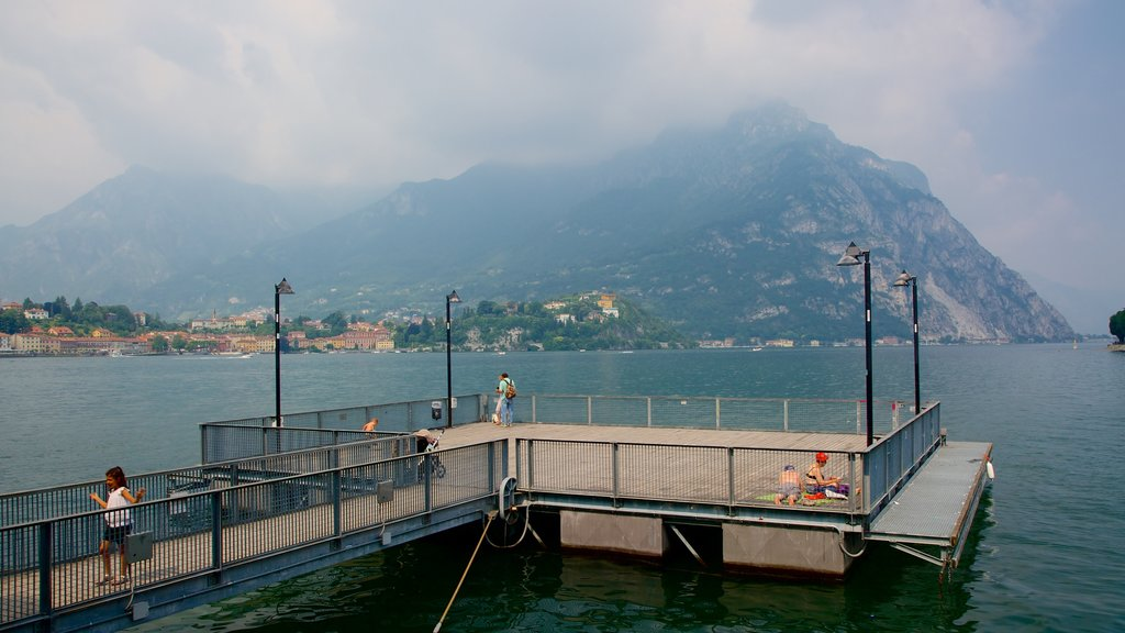 Lecco showing general coastal views, a bay or harbor and a coastal town