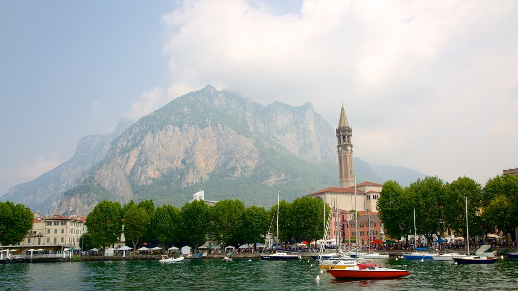 Lecco which includes a marina, mountains and boating