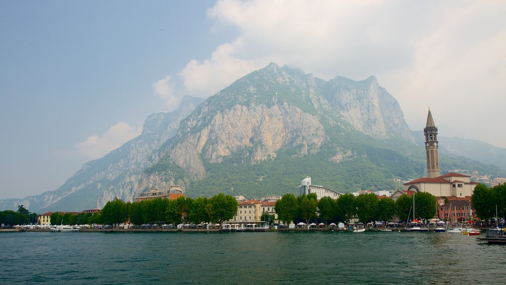 Lecco featuring a coastal town and mountains