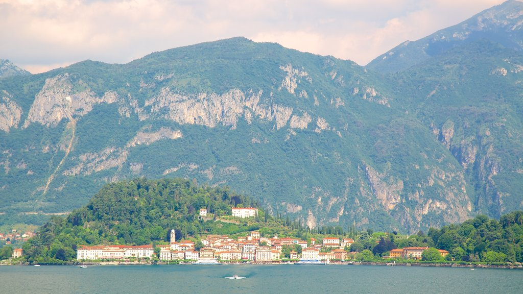 Bellagio featuring a coastal town, mountains and general coastal views