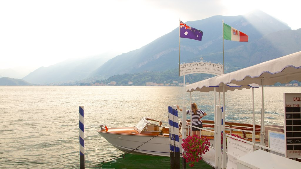 Bellagio which includes a marina, general coastal views and boating