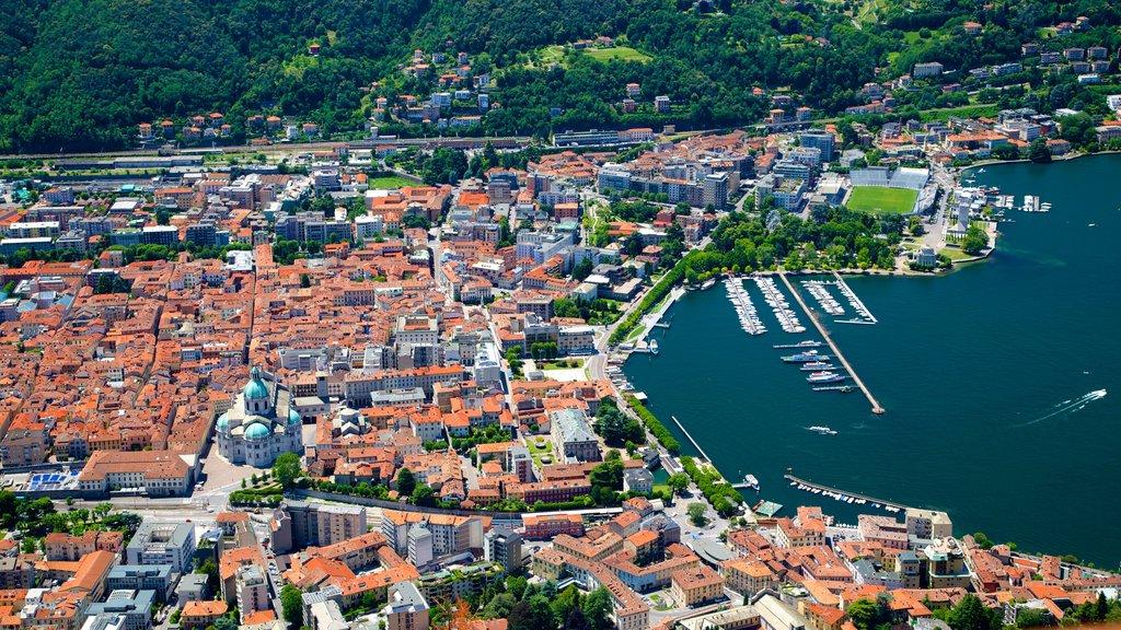 Como-Brunate Funicular which includes a coastal town, a marina and a city