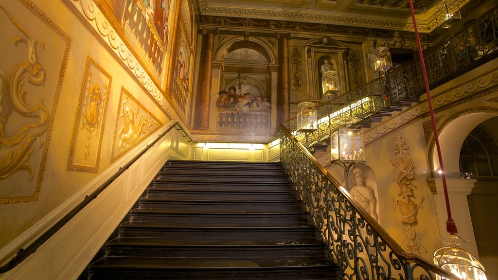 Kensington Palace showing heritage elements, interior views and heritage architecture