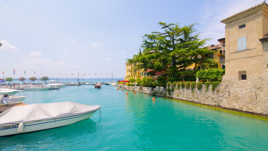 Sirmione which includes boating, a coastal town and a bay or harbor