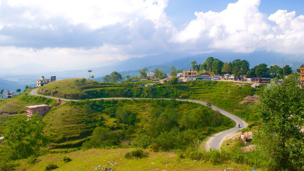 Nagarkot showing tranquil scenes and a small town or village