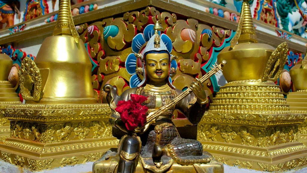 Kopan Monastery which includes religious aspects, heritage elements and a statue or sculpture