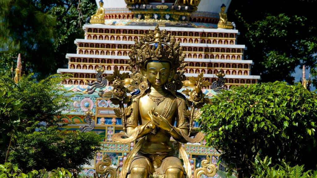 Kopan Monastery featuring religious elements, a statue or sculpture and heritage elements
