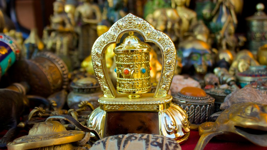 Swayambhunath which includes markets and religious aspects
