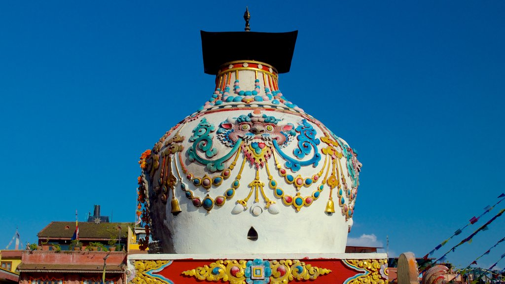 Boudhanath showing religious aspects
