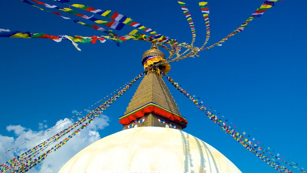 Boudhanath featuring religious elements