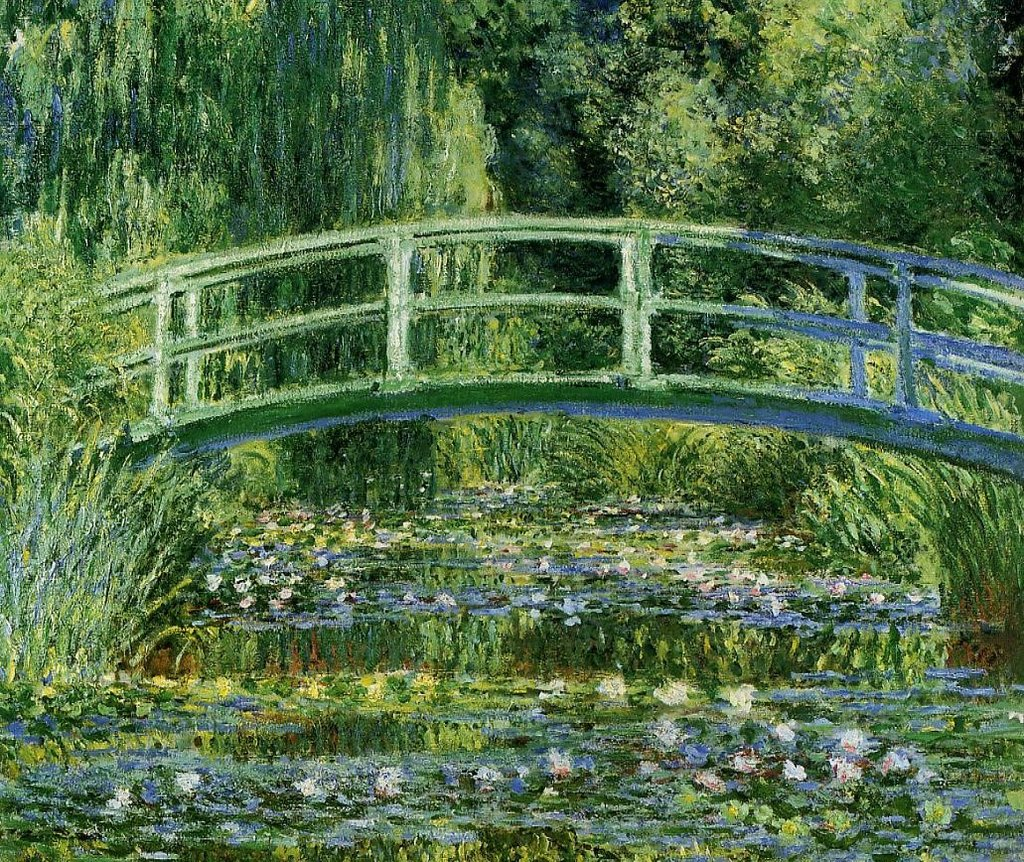 Ninfee e Ponte Giapponese, particolare - By Claude Monet - the-athenaeum.org  , Public Domain, https://commons.wikimedia.org/w/index.php?curid=5749305