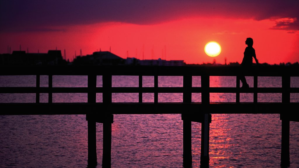 Port Charlotte - Charlotte Harbor showing a sunset and general coastal views