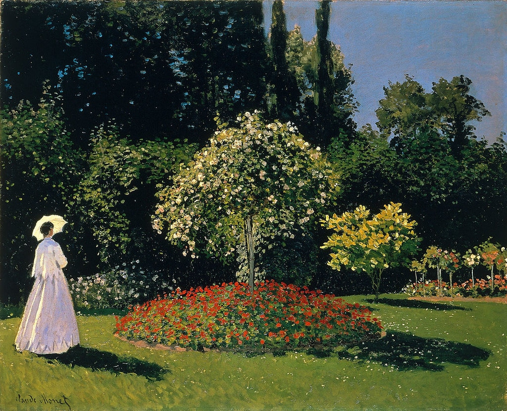 Donna in giardino a Sainte-Adressel - By Claude Monet - http://www.arthermitage.org/Claude-Monet/Woman-in-the-Garden-Sainte-Adresse.html, Public Domain, https://commons.wikimedia.org/w/index.php?curid=155850